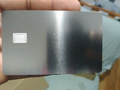 OEM New Blank Credit Card Metal with Chip-Hole and Hico Magstripe !