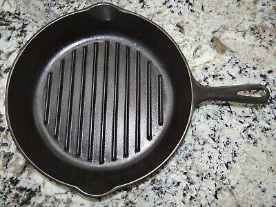 Wagner Ware 1129 Angus Broiler Cast Iron Grill Skillet Vtg Antique CLEANED NICE!