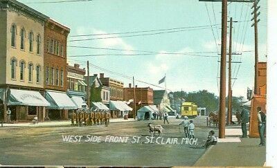 St.clair,Michigan-West Side Front Street-Pre1920---(Mich-S)