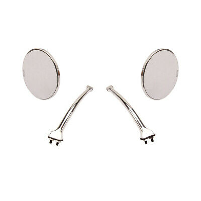 Hagan Fattie 4 Inch Round Rear-View Mirrors with Curved Arms