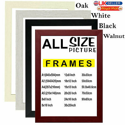Photo Frame with Back Clips Picture / Poster in Oak style(Size - 4 Available)