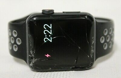 Apple Watch Series 3 42mm Space Gray Aluminum Black Sport Band GPS LTE AS IS
