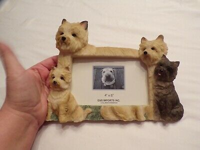 New Dog Picture Frame Cairn Terrier