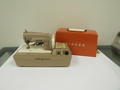 Singer Sewhandy Electric Sewing Machine Portable Orange England Kids Toy Vintage