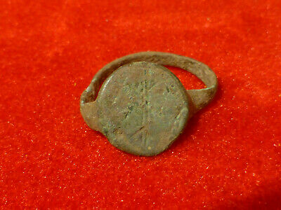 Rare Excavated Ancient Bronze Viking Warrior's Ring - Beautiful Design