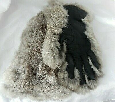 Lovely Pair of Vintage (1940's) CC41 Fur And Leather Ladies Gloves