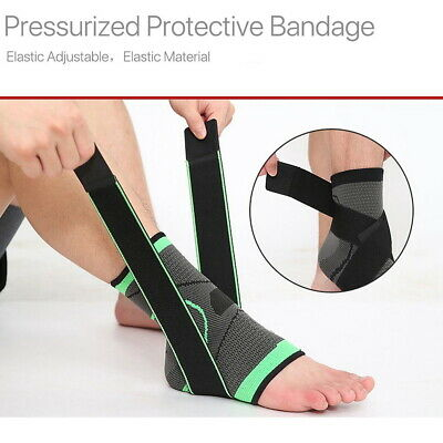 Nylon Strap Ankle Support Brace Fitness Heel Protector Compression Bandage