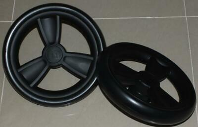 New Mothercare Orb pair of rear wheels - Black, ready to use