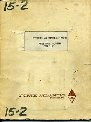 North Atlantic Operating and Maintenance Manual Phase Angle Voltmeter model 213C