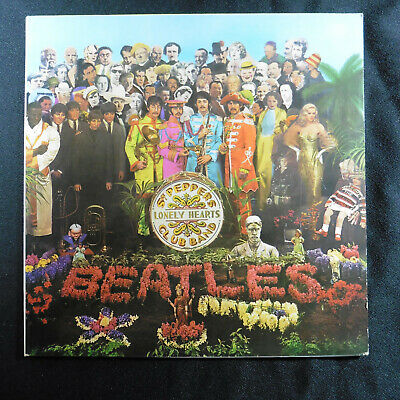 Beatles Sgt Pepper 1970 Singapore censored sleeve and label/vinyl scarce EX+/EX