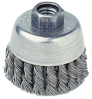 "Radnor 3-1/2"", 5/8 - 11 Arbor Hole, Carbon Steel .020 Wire Knot Wire Cup Brush"