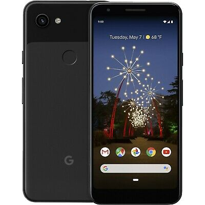 Unlocked Google Pixel 3a 64GB Just Black Android GSM 4G LTE Smart Cell Phone