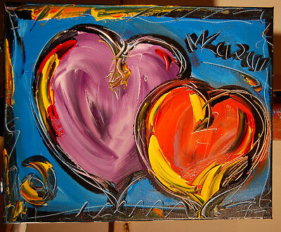 Our Hearts  by Mark Kazav  Abstract Modern CANVAS Original Oil Painting NR
