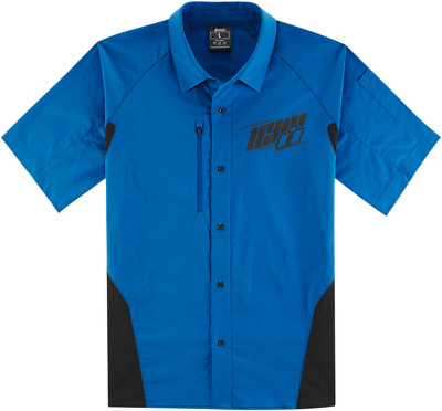 Icon Men's Overlord Shop Shirt - Blue / All Sizes