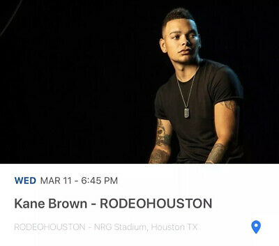 Pair Of Kane Brown Houston Rodeo Tickets - March 11 - Section 551