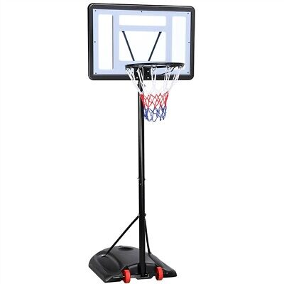 Free Standing Basketball Net Hoop Backboard Adjustable Stand Portable Wheels