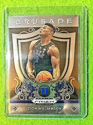 Zion Williamson Rookie Card Panini Prizm Rc Duke Jersey #1 Pelicans 2019 Crusade