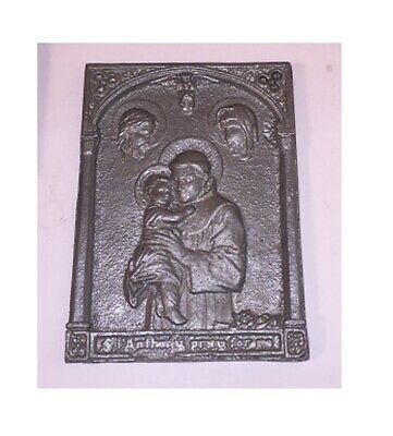 Vintage St ANTHONY PRAY FOR US Christian Metal Soap or Chocolate? Mold Religious