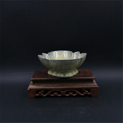 Chinese ancient antique hand make Lotus shape  Fruit tray e150