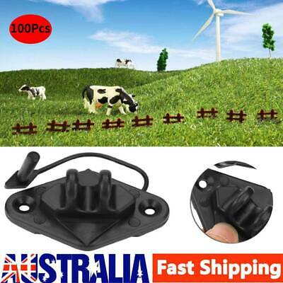 POST PINLOCK INSULATOR Electric Fence Energiser Poly Tape Wire Star Picket Set