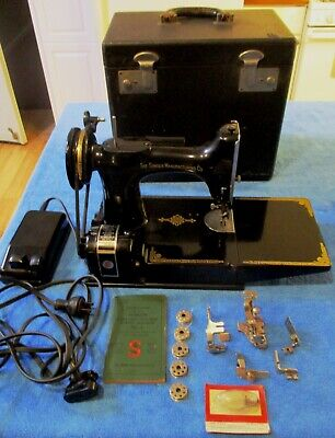 Singer Weight 22I Sewing Machine Anniversary Model Blue Decal Excellent!!!