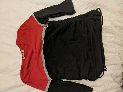Ripe maternity top size large, black and red