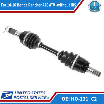 2014 Honda Rancher 420 with IRS 4x4 ATV Pair of Rear CV Joint Axles