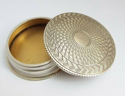 Superb Clean Condition English Antique 1926 Solid Sterling Silver Pill Rouge Box