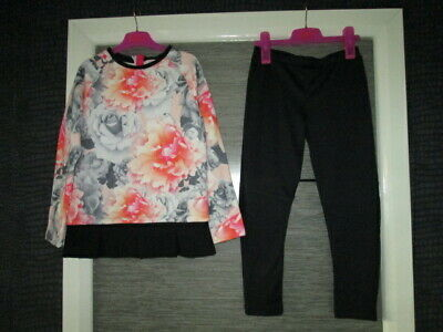 Girls Ted Baker L/S Top And Leggings Set Age 9-10 Yrs Vgc
