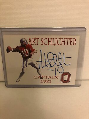 Art Schlichter - TK Legacy Ohio State Autographed Captain Card