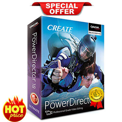 CyberLink PowerDirector Ultimate 18 ✅ Genuine Lifetime License ✅ INSTNT DLVRY 🔥
