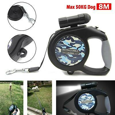 Heavy Duty Large Dog Puppy Extendable Retractable Lead Set 8M Up To 50KG Dogs UK