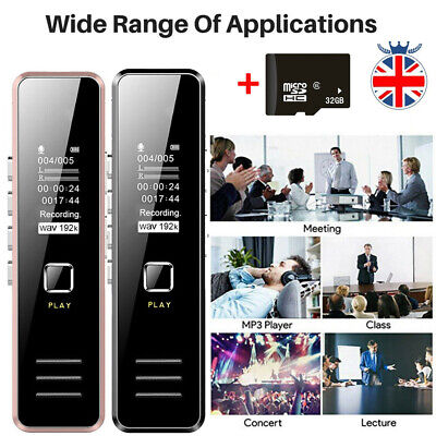 32GB Rechargeable Digital Audio/Sound/Voice Recorder USB Dictaphone MP3 Player