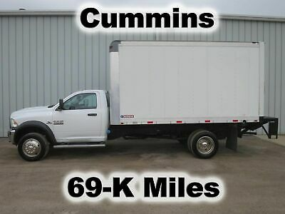 Ram 4500 Cummins Diesel 14Ft Box Cube Van Lift Gate Delivery Haul Truck 59-K Mi