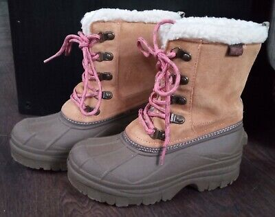 NEXT Girl's (Older) SIZE 1 Winter Snow Boots - Worn Once