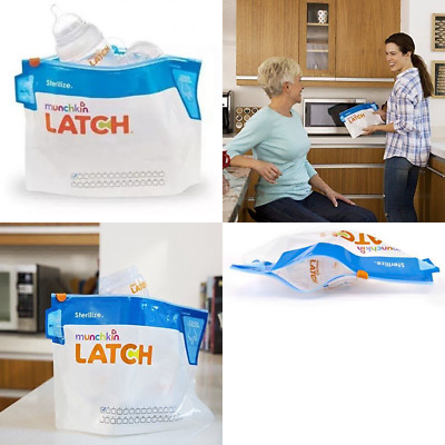 Munchkin Latch Steriliser Bags (Pack Of 6) UK POST FREE