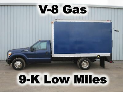 F350 6.2 V-8 Gas Automatic 12-Ft Box Van Delivery Haul Work Truck 9-K Low Miles