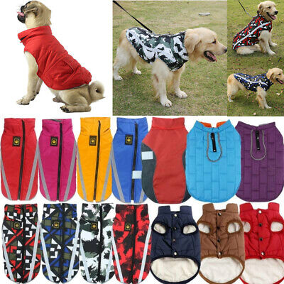 Small Medium Large Dog Coats Jacket Waterproof Pet Winter Warm Vest Costume UK