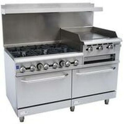 """Falcon Food Service 60"""" Gas range with 24"""" Griddle (R), Broiler & Double Oven"""