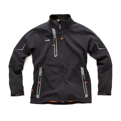 Scruffs T53036 Pro Softshell Black Small Water Resistant Breathable Fleece Lined