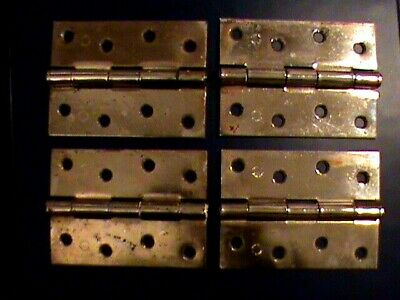 "Heavy Duty Solid Brass 4"" Door Hinge X 4. Weight 146 gm. English Made. Excellent"