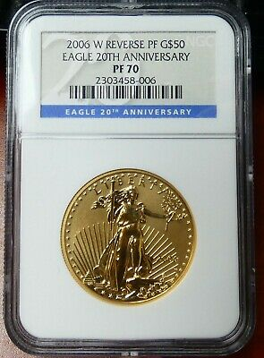 2006-W $50 Gold American Eagle Reverse Proof 20th Anniversary NGC PF70 - bmrpp
