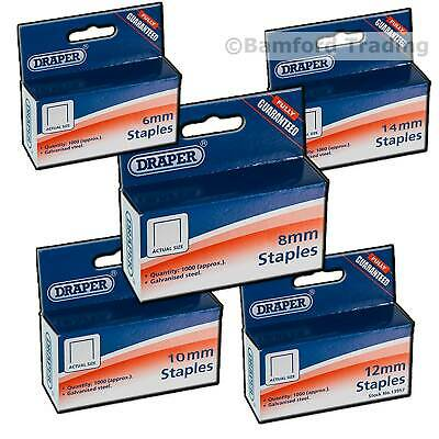 Staples to Fit For Arrow T50 Tacwise Draper 13951 Stanley Rapid Type 140 Stapler