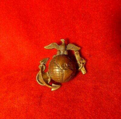 Rare Indian War Model 1892 Marine Corps Anchor Hat Insignia W/ Screw Back - Exc