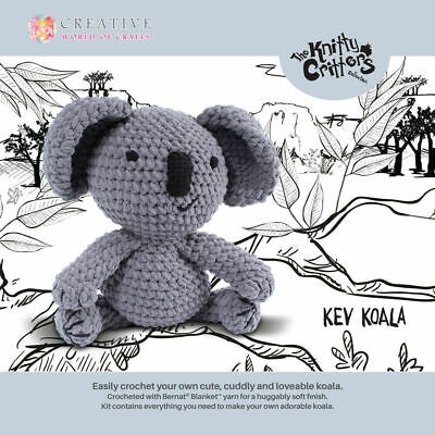 The Knitty Critters Collection - KEV KOALA - Crochet Kit