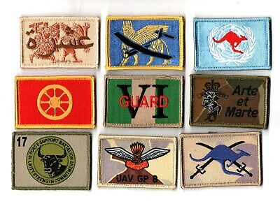 a lot of 9 mixed Australian Army Unit Patches                   . Lot 1