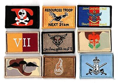 a lot of 9 mixed Australian Army Unit Patches                   . Lot 3