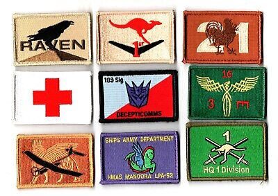 a lot of 9 mixed Australian Army Unit Patches                   . Lot 4
