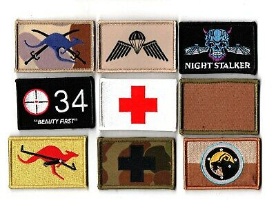 a lot of 9 mixed Australian Army Unit Patches                   . Lot 5