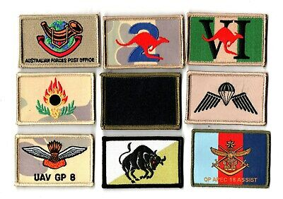 a lot of 9 mixed Australian Army Unit Patches                   . Lot 6